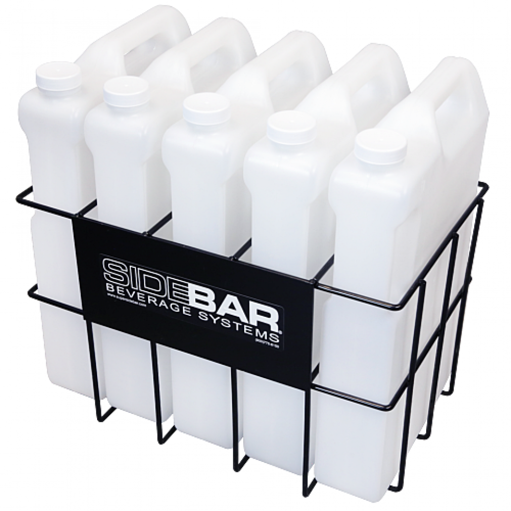 High Capacity 25 Liter Storage Rack with Bottles