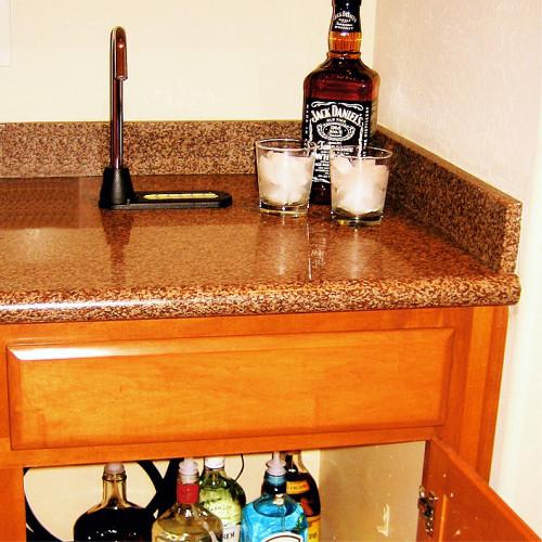 Lewis Home bar install 6500H SIDEBAR