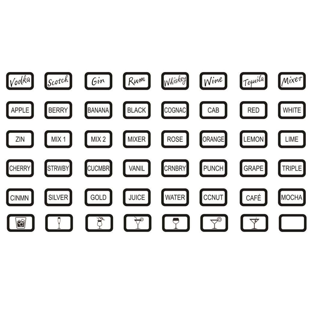 Keypad Optional Logo Label Pack - 6880 GEN II ONLY