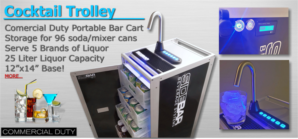 Portable Bar Cart Cocktail Trolley