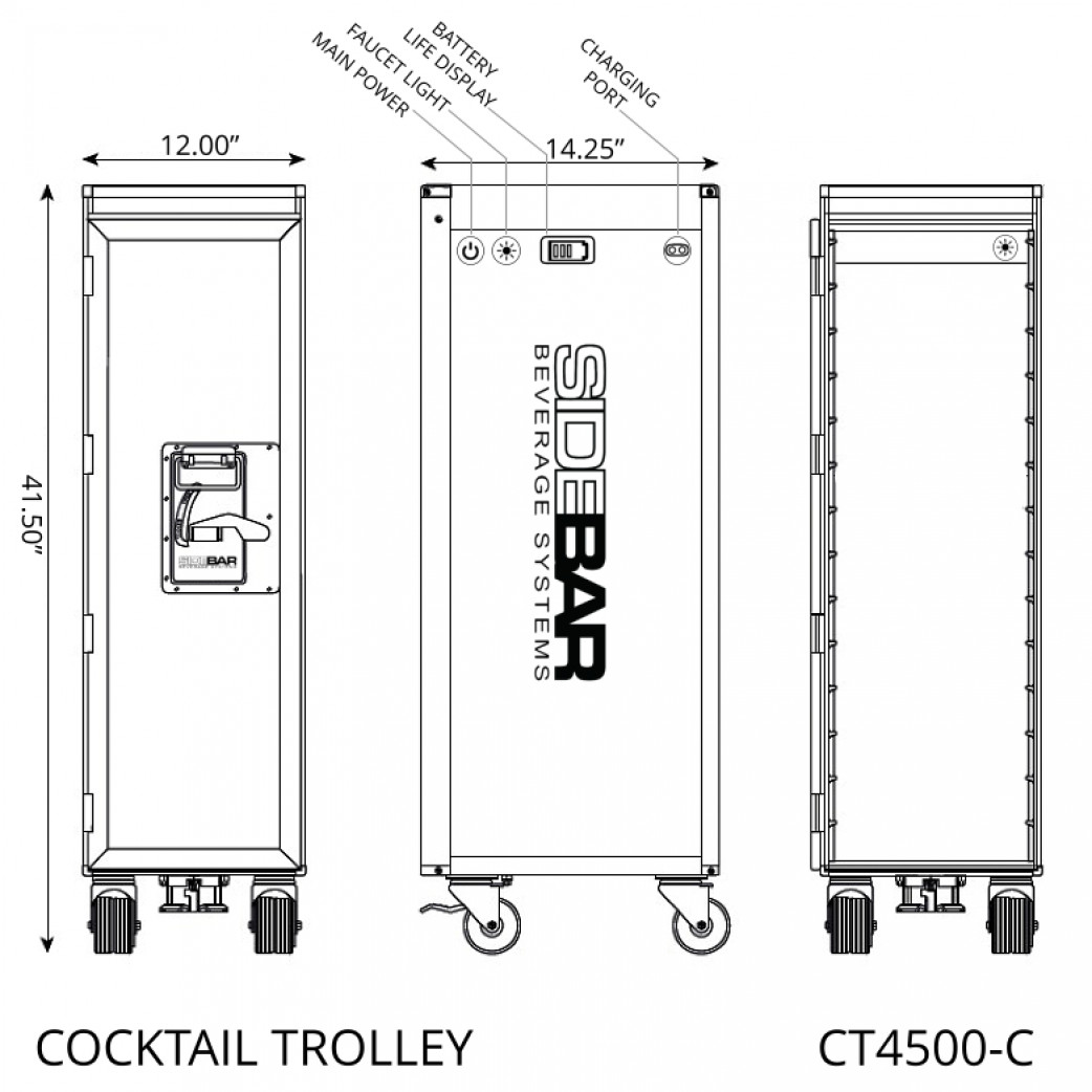 Cocktail Trolley